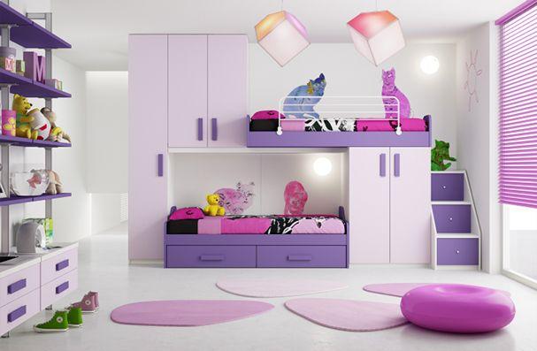 habitacion infantil color lila3