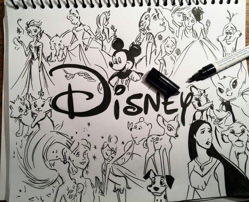 Drawings & Disney by Clarissa787 on We Heart It in 2019 ...