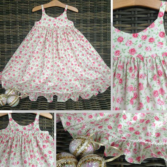 Girls size 3 floral dress ivory flower dress girl dress