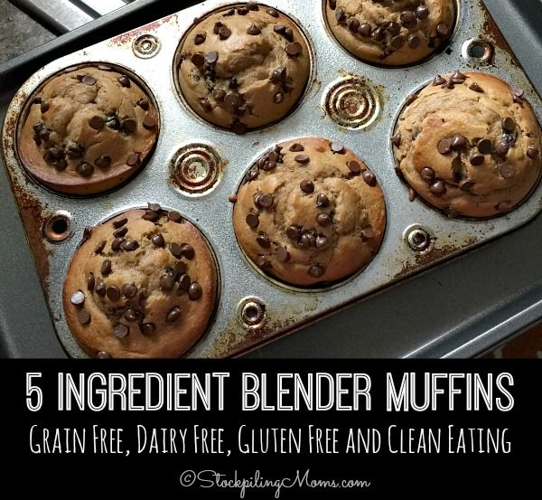 5 Ingredient Blender Muffins recipe is so good and it is grain free, dairy free, gluten free and clean eating making it the perfect choice for breakfast or an afternoon snack!