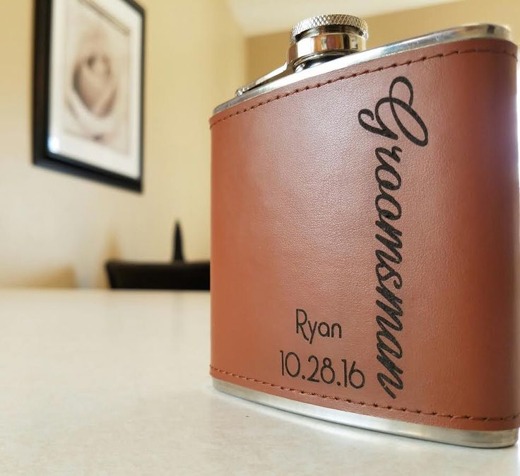 Groomsman Gift - Personalized Flask, Groomsmen Gift Hip Flask, Gift For Best Man, Usher, Wedding Favors, Gift For Him, Custom Engraved Name by PandGCustoms on Etsy https://www.etsy.com/listing/491036358/groomsman-gift-personalized-flask