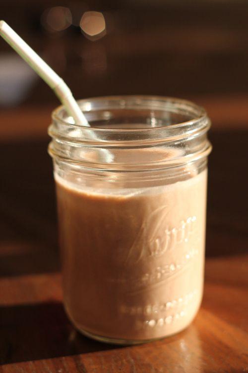 Chocolate Protein Smoothie! A non-dairy smoothie with pea protein powder.