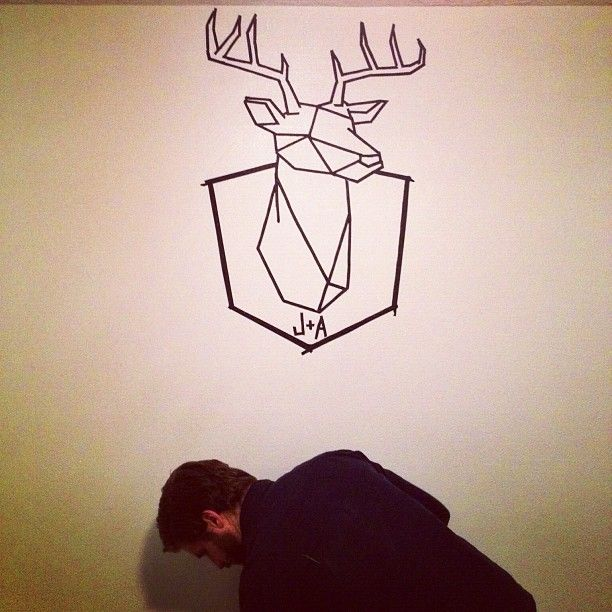 tape art - deer