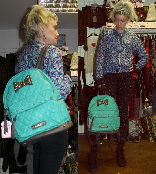 17-11-13 - Motel Rocks Purple Paisley Bomber Jacket RRP £50 - Rokii £40 - Anna Smith aqua Green Padded Backpack with Gold Studded Bow RRP £36 Rokii £28.80, Silver Cross Earings £3.50  Rokii Portsmouth rokii.co.uk  Order through FB or on the phone 02392294081 and get FREE LOCAL DELIVERY PO1-PO6, Lay Away until Christmas. Motel Rocks Paisley Purple Print Bomber Jacket Urban Outfitters Black Studded Jeans Anna Smith Green Padded Rucksack With Gold Studded Bow Rokii Silver Cross Earings £3.50