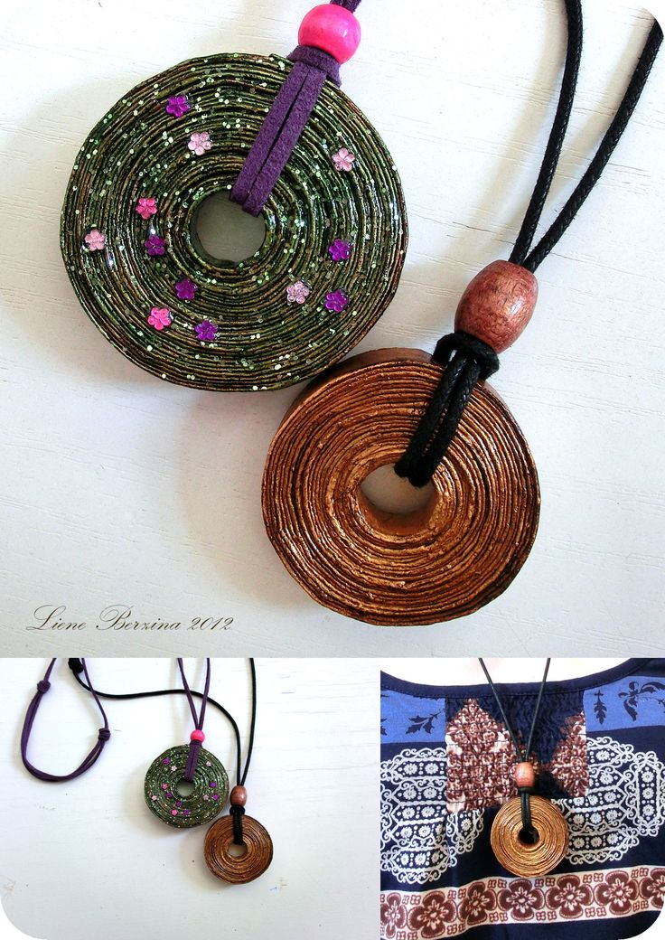 Recycled paper pendant