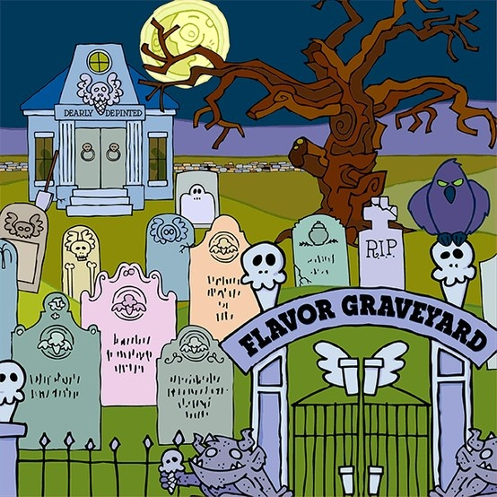 """Our dearly departed flavors rest in our Flavor Graveyard, but every so often an ice cream flavor is so desperately missed that it's """"reinCONEnated""""! Which flavor would you like to see raised from the graveyard?"""