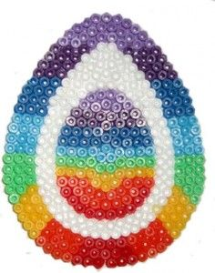 HamaBead Easter Egg Designs This is a free resource of patterns that has been created by Merry from BeadMerrily. All designs are copyright to BeadMerrily and may not be repackaged or resold in any way. These patterns MAY be freely downloaded for personal or not for profit use. These patterns require the Egg shaped pegboard made by Hama and plenty of Midi Beads!