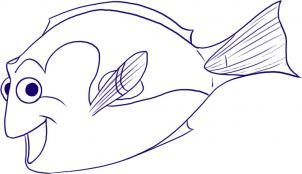 Disney - How to Draw Dory from Finding Nemo
