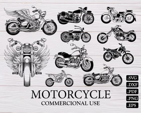 Motorcycle Svg Motorcycle Clipart Bike Svg Wings Svg Motorcycle Vector Harley Davidson Svg Mot Motorcycle Clipart Svg