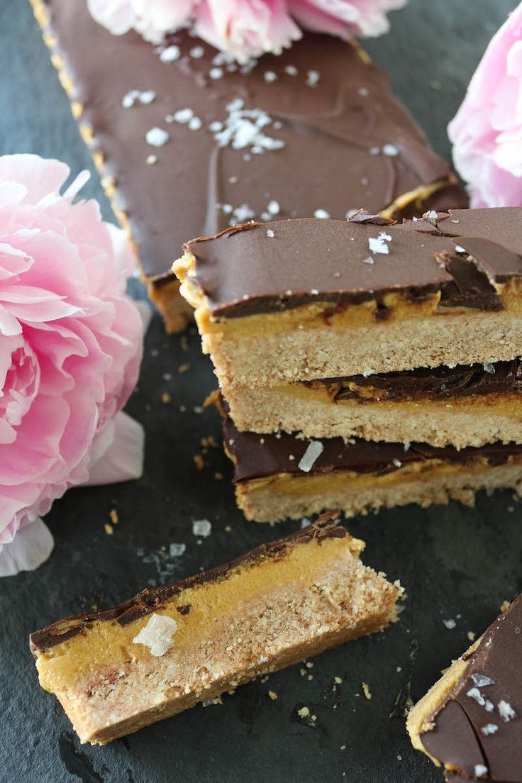 """Chocolate """"Peanut Butter"""" Cookie Bars"""