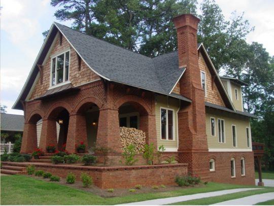 Brick And Shingle Cottage In Georgia