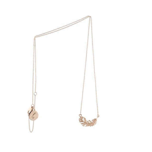 Image of MINI FEATHER CHAIN ROSE