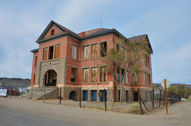 Abandoned school building in goldfield nevada usa this old school house pinterest - The house in the abandoned school ...