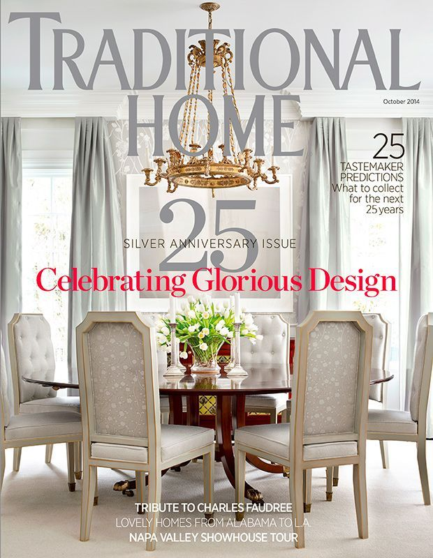 traditional home dining rooms. Traditional Home magazine cover  October Table in wood with painted chairs 9 best Covers images on Pinterest