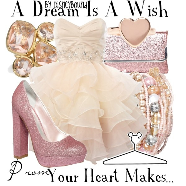 A Dream Is A Wish Your Heart Makes, created by lalakay: Homecoming Outfit, Heart, Disney Outfit, Disney Inspiration, Disneybound, Disney Bound, The Dresses, Disney Styles, Disney Fashion