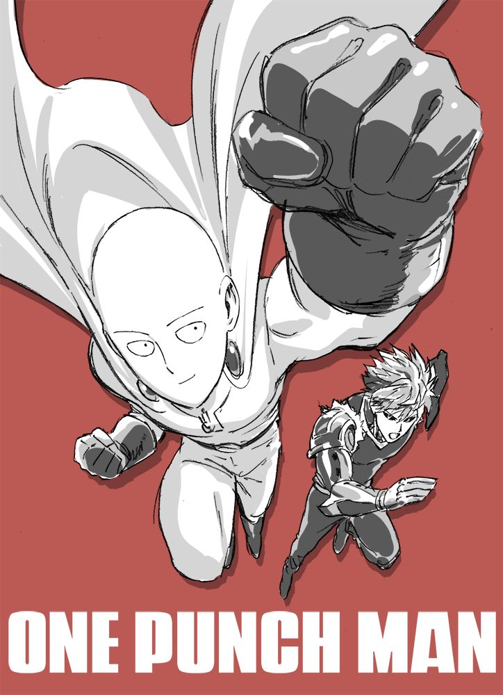 - One Punch Man - Genos and Saitama