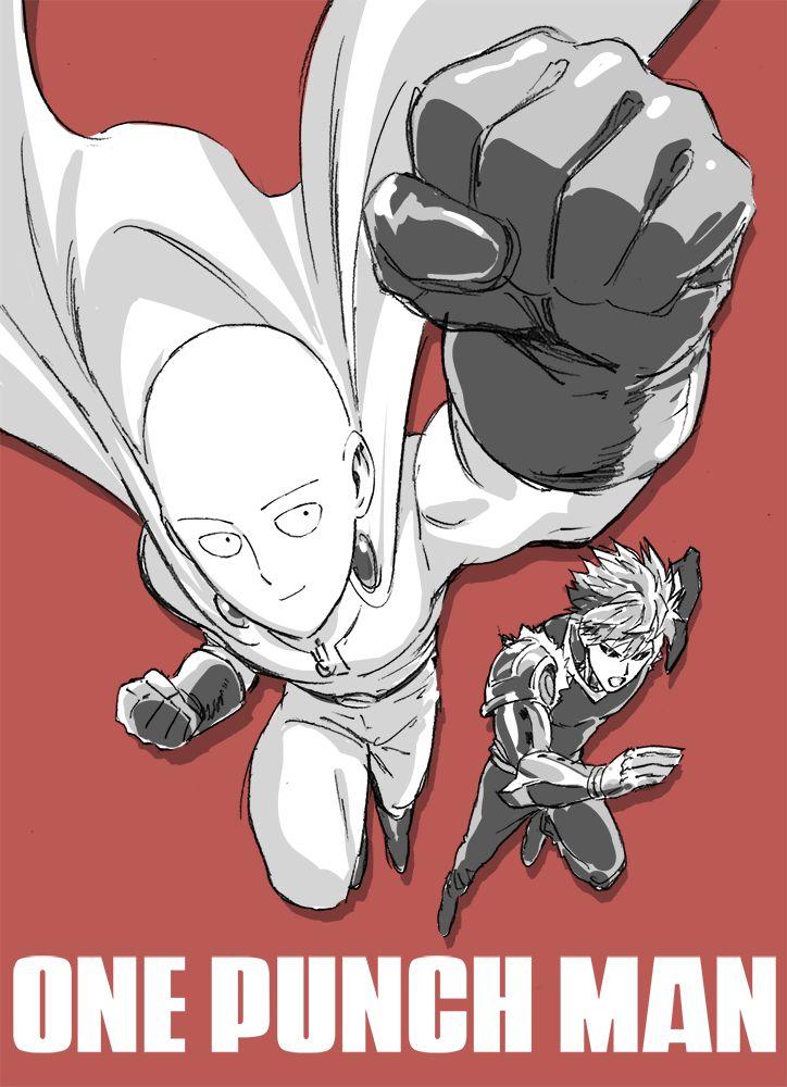 - One Punch Man - Genos and Saitama