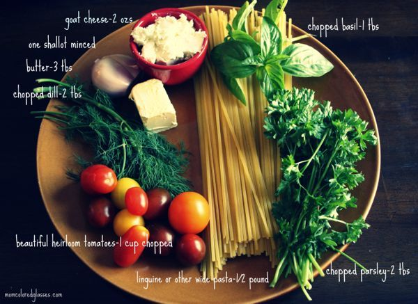 Herb Butter & Goat Cheese Pasta