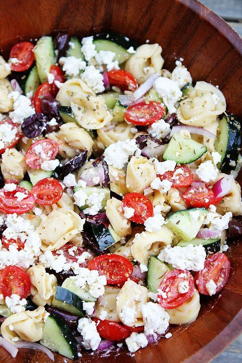 Greek Tortellini Salad | Tortellini Salad Recipe | Two Peas & Their Pod