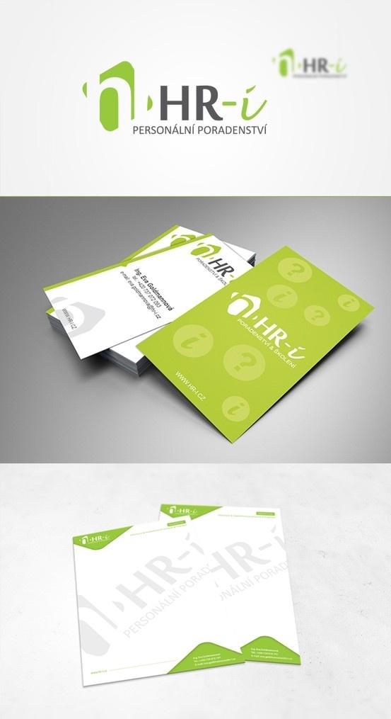 Návrh logotypu, vizitek a hlavičkových papírů pro HR-i