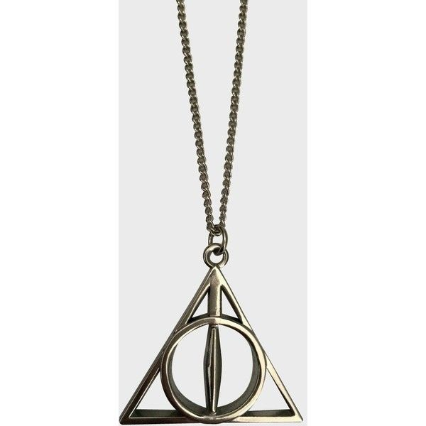 Deathly Hallows Necklace ($22) ❤ liked on Polyvore featuring jewelry, necklaces, charm necklaces and charm jewelry