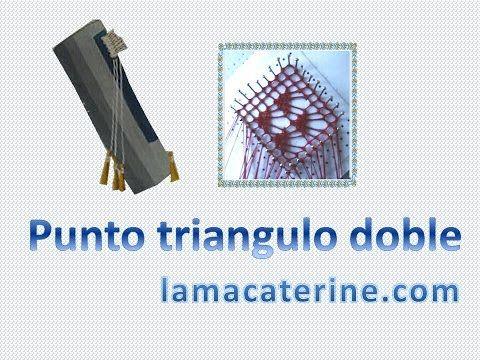 Encaje de bolillos: Como hacer el punto imperdible/diamante/mosca doble - YouTube