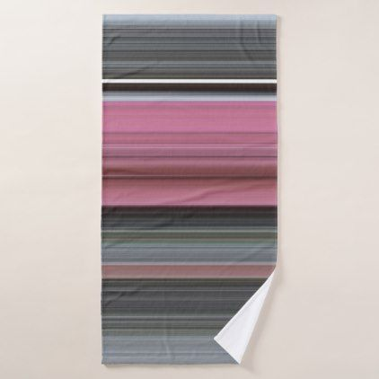 Abstract #1: Pink and grey Bath Towel - modern gifts cyo gift ideas personalize