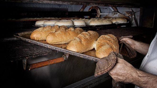 Artisan bread baked daily in our shop.