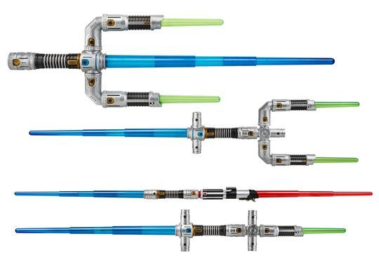 BladeBuilder: Various connectors and lightsaber pieces allow kids to build their ultimate lightsaber.