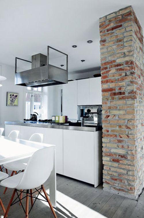 Cocinas con paredes de ladrillos curso de organizacion del hogar pared pinterest cocina - Clases de ladrillos ...