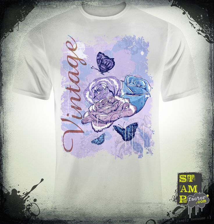 VINTAGE ROSES (Version 04) 2015 Collection - © stampfactor.com *T-SHIRT PREVIEW*