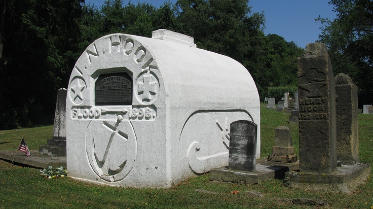 Captain Hook gravesite in Old Brick Cemetery in Morgan County between Stockport and McConnellsville (Ohio). Legend has it that he designed the tombstone to be rounded so his wife couldn't dance on his grave when he died, as she said she would!