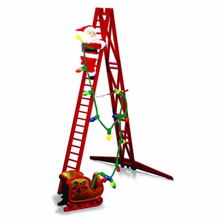 Santa Climbs Up And Down The Christmas Ladder, Never