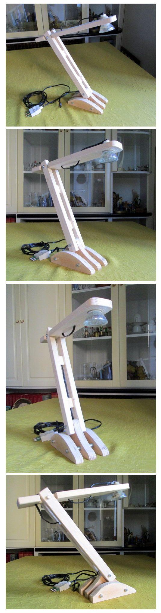 Lampada da tavolo in legno e illuminazione a diodi led https://www.facebook.com/pages/Fai-da-te-Forum/257932964363080?ref=hl