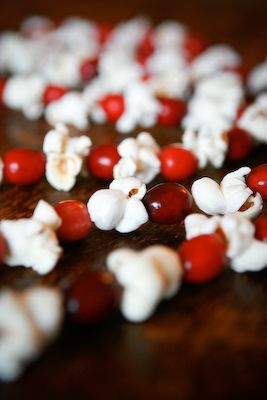 Cranberry & popcorn garland. A DIY must for this Christmas.