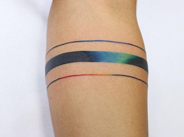 #hand #lines #tattoo #color #rainbow # #goodsigntattoo #lilyatattoo