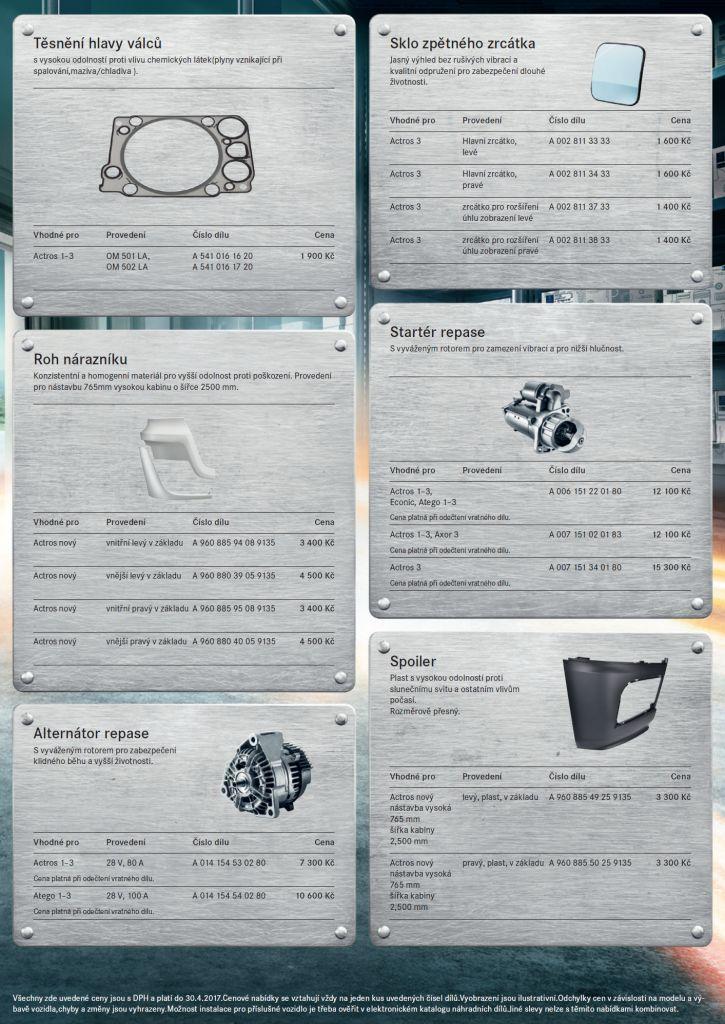 Zvýhodněné originální díly pro nákladní vozidla | Mercedes