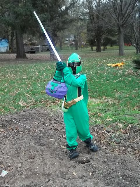 Green Power Ranger costume with Snow Boots for Power Boots. Girls are Power Rangers too!