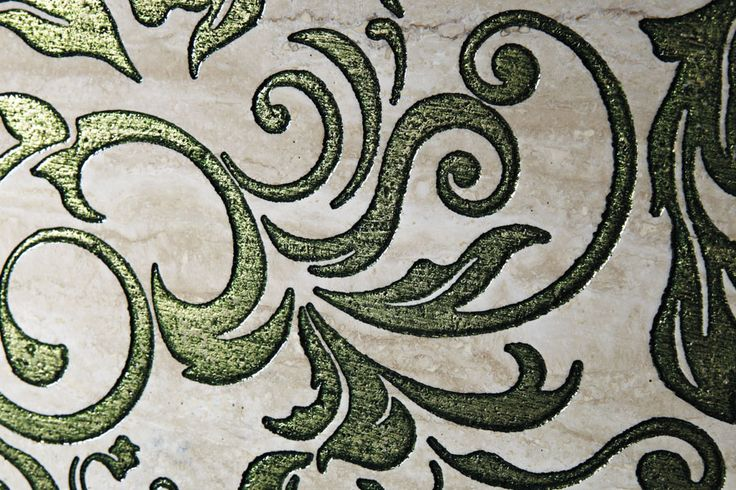 Pietre Preziose Collection. Emerald Green. Stunning colour and design. Natural marble engraving.