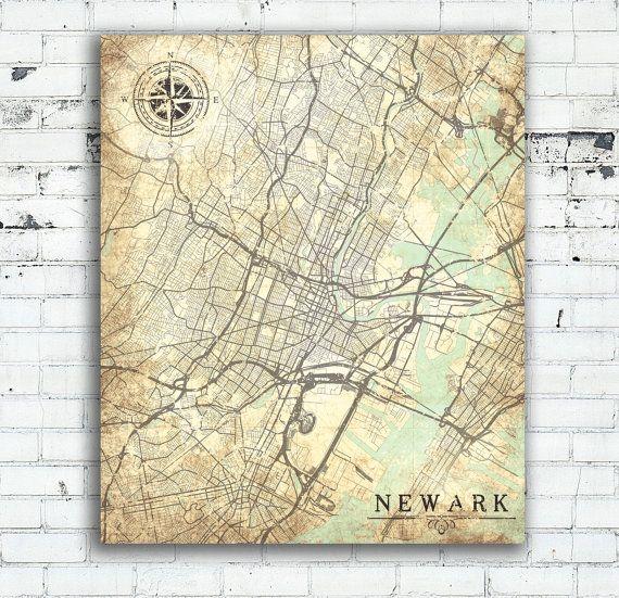 98 best New Jersey Map Art images on Pinterest Map art City maps