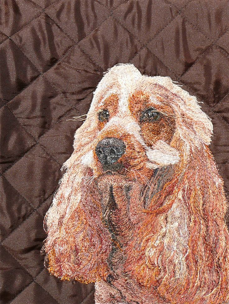 Honey Freehand Machine Embroidery Portrait Commission by Art Sea Craft Sea
