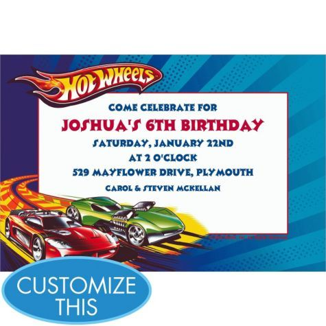 22 best Party HOT WHEELS images – Hot Wheels Birthday Invitations