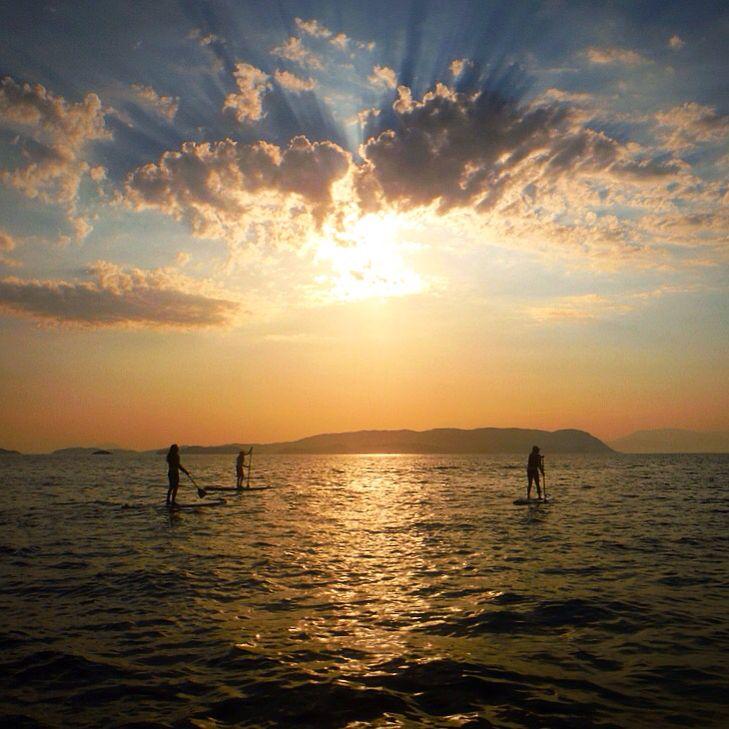 #sporadessup #skopelos #sup #sunset #water #clouds #sun #standupppaddle