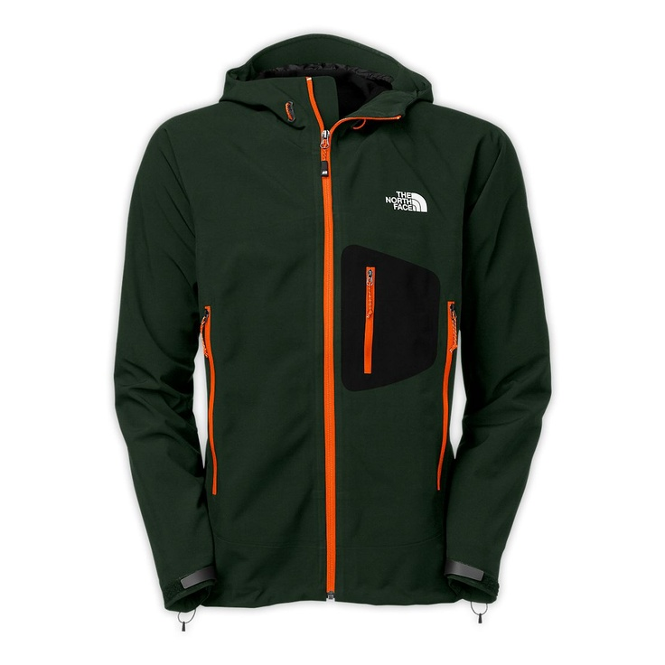 North face jacket green and orange