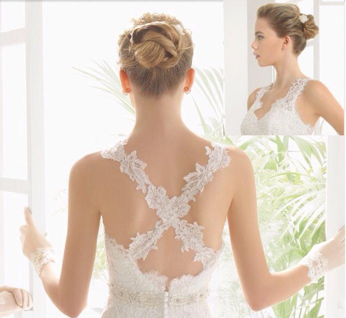 Adding a halter strap to a strapless wedding dress