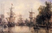 The Port of Rotterdam I  by Johan Barthold Jongkind