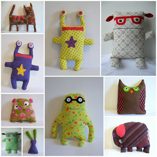 doudou monsters...love the glasses!