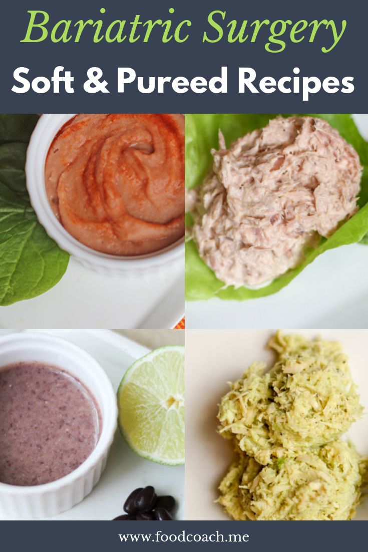 Soft and Pureed Recipes After Bariatric Surgery Pureed