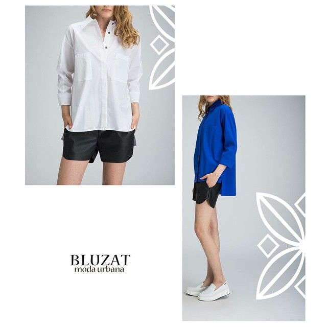 The boyfriend shirt it's a must have.  A casual look can be completed with a pair of leather shorts. Shirt: http://www.bluzat.ro/?p=18505 and shorts http://www.bluzat.ro/?p=18094 #bluzat #modaurbana #shorts #shorts #summer#ootd #potd #feelgood