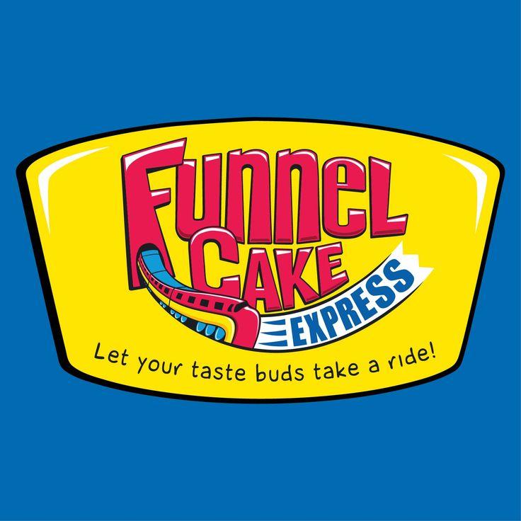 Funnel cake express sticker logo funnel cake logo